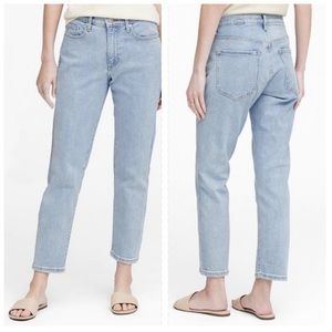 BANANA REPUBLIC mid-rise mom look straight jeans